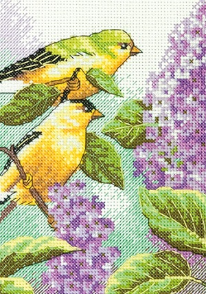 Dimensions 65153 Goldfinch and Lilacs