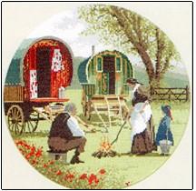 Heritage Crafts Gypsy Caravans - the Circles John Clayton
