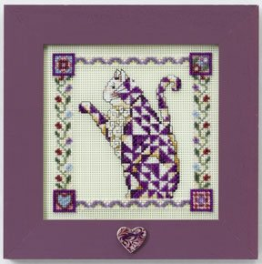 Mill Hill Jim Shore JS148403 Petunia - Quilted Cats