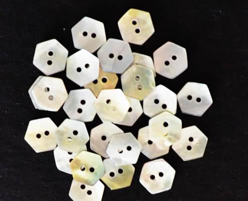 Mini-hexagon buttons