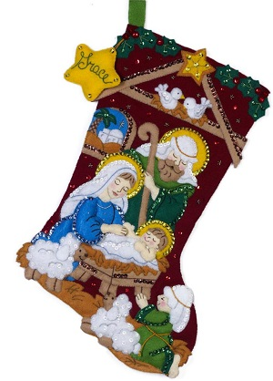 Bucilla 86449 Nativity stocking