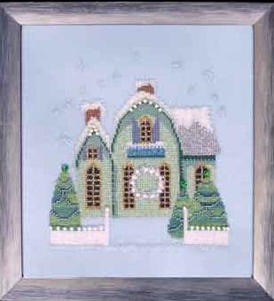 Little Snowy Green Cottage - Snow Globe Village Series