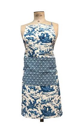 Sajou Blue kitchen apron