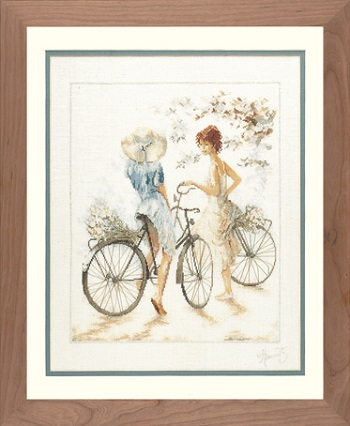 Lanarte PN 7949 Girl on bicycle