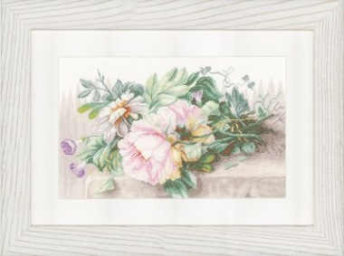 Lanarte PN147588 Peonies and Morning Glory