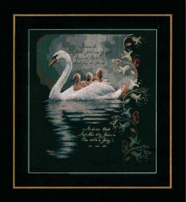 Lanarte PN147904 Swan with Cygnets