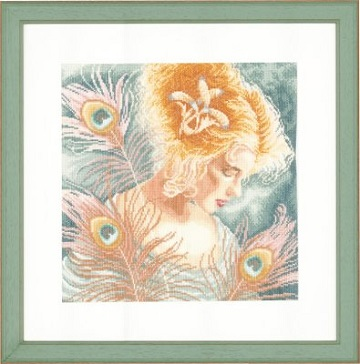 Lanarte PN148264 Young Woman Peacock Feathers