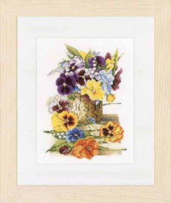 Lanarte PN154463 Pot of pansies