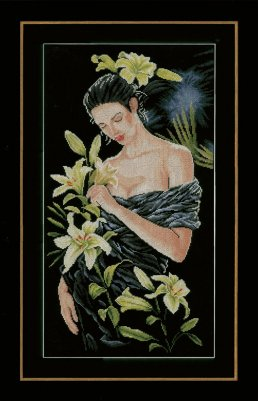 Lanarte PN155748 Lady with lilies