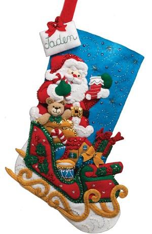 Bucilla 86359 Santa & His Sleigh