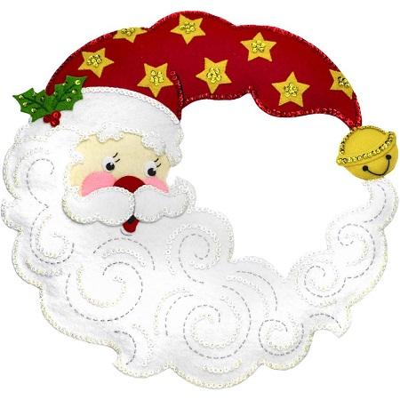 Bucilla 86945 Crescent Moon Santa