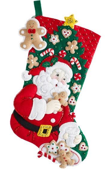 Bucilla 86655 Snack time Santa