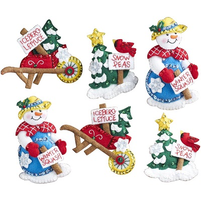 Bucilla 86558 Snow garden ornaments