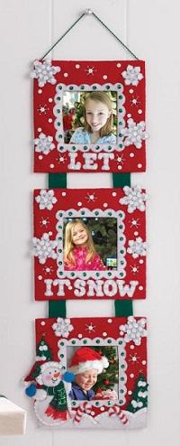 Bucilla 86422 Snowman Triple Frame Wall Hanging