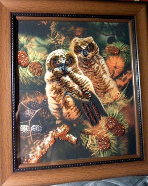Owls beaded kit