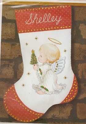 Sunset 18020 Holly angel stocking