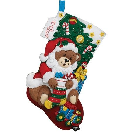 Bucilla 86503 Teddy bear stocking