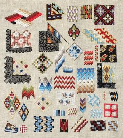 Reflets de Soie Woolwork sampler